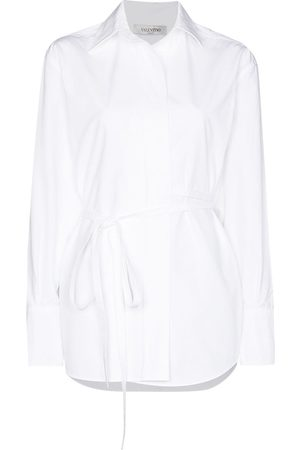 VALENTINO Tie-waist long-sleeve shirt