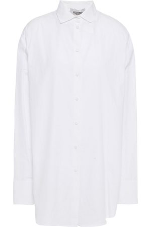 VALENTINO Women Long sleeves - Woman Gathered Cotton-poplin Shirt Size 36