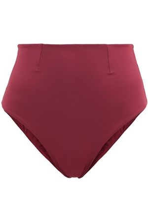 Haight Vintage High-rise Bikini Briefs - Womens - Burgundy