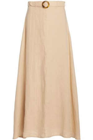 FAITHFULL THE BRAND Women Midi Skirts - Devon Belted Linen Midi Skirt