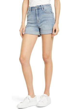 Hidden Jeans Women's High Waist Cuff Denim Mom Shorts